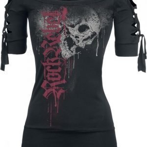 Rock Rebel By Emp Drops Skull Cut Out Shirt Naisten T-paita