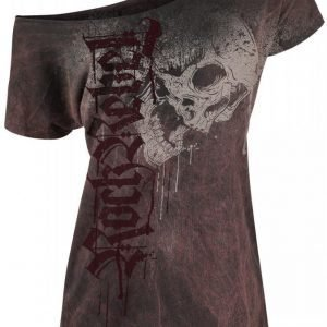 Rock Rebel By Emp Drops Skull Shirt Naisten T-paita