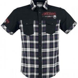 Rock Rebel By Emp Eagle Crest Shirt Lyhythihainen Kauluspaita