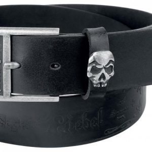 Rock Rebel By Emp Embossed Skull Belt Vyö