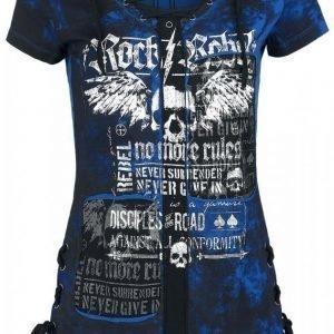 Rock Rebel By Emp Eyelet Lace Up Shirt Naisten T-paita