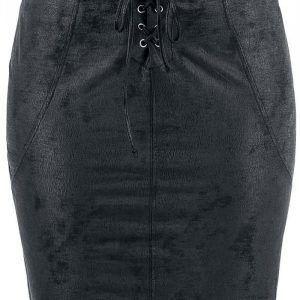 Rock Rebel By Emp Fake Suede Skirt Lyhyt Hame