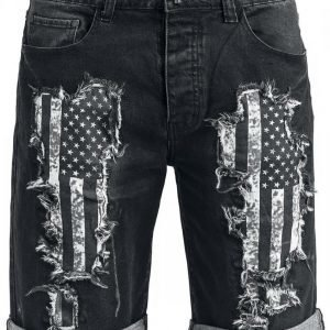 Rock Rebel By Emp Flag Denim Shorts Shortsit