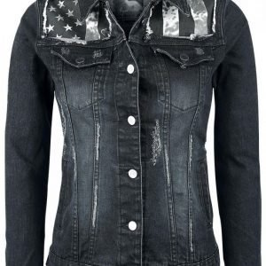 Rock Rebel By Emp Flag Jeansjacket Naisten Farkkutakki