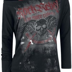 Rock Rebel By Emp Flashed Winged Skull Longsleeve Naisten Pitkähihainen Paita