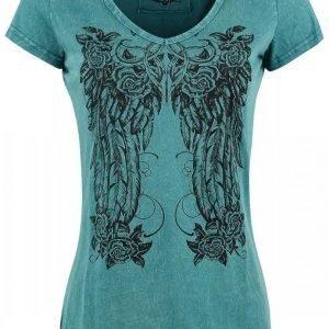 Rock Rebel By Emp Floral Feather Shirt Naisten T-paita