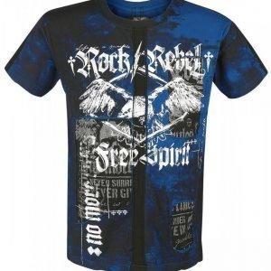 Rock Rebel By Emp Free Spirit Cut Out Shirt T-paita