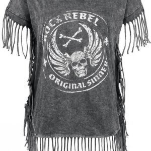 Rock Rebel By Emp Fringed Original Sinners Naisten T-paita