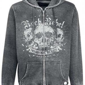 Rock Rebel By Emp Hooded Burnout Jacket Vetoketjuhuppari