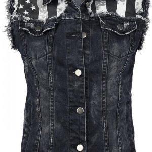 Rock Rebel By Emp Jeans Waistcoat Naisten Liivi