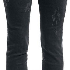 Rock Rebel By Emp Megan Skull Rivet Skinny Fit Naisten Farkut