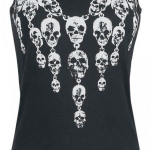 Rock Rebel By Emp Necklace Skull Top Naisten Toppi