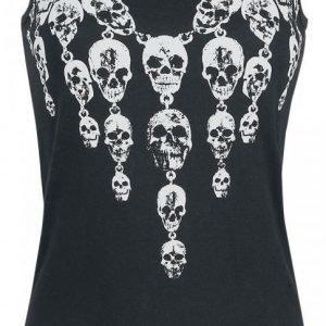 Rock Rebel By Emp Necklace Skull Top Naisten Toppi