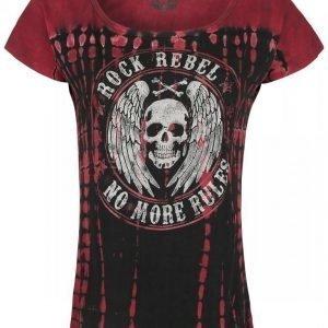 Rock Rebel By Emp No More Rules Batik Circle Naisten T-paita