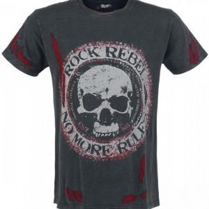 Rock Rebel By Emp No More Rules Cut Outs T-paita