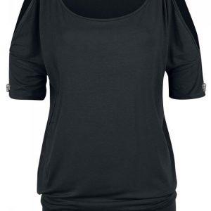 Rock Rebel By Emp Open Shoulder Shirt Naisten T-paita