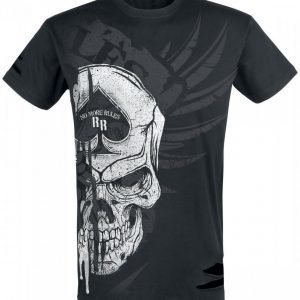 Rock Rebel By Emp Reckless Skull Shirt T-paita