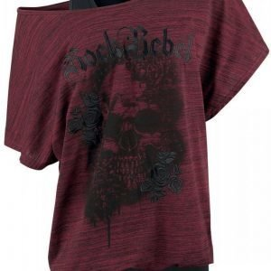 Rock Rebel By Emp Rose Rebel Double Layer Naisten T-paita