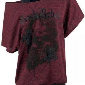 Rock Rebel By Emp Rose Rebel Double Layer Naisten T-paita