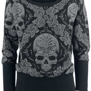 Rock Rebel By Emp Roses & Skull Sweatshirt Naisten Svetari