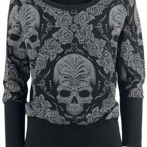 Rock Rebel By Emp Roses & Skull Sweatshirt Naisten Svetari