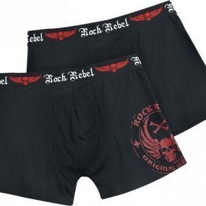 Rock Rebel By Emp Skull Boxershorts Set Of 2 Bokserit