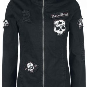 Rock Rebel By Emp Skull Denim Jacket Naisten Farkkutakki