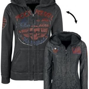 Rock Rebel By Emp Skull Lace Hoodie Jacket Naisten Vetoketjuhuppari