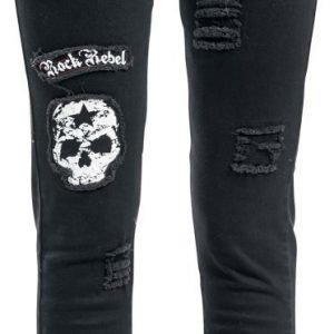 Rock Rebel By Emp Skull Patch Megan Skinny Fit Naisten Farkut