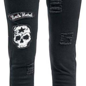 Rock Rebel By Emp Skull Patch Megan Skinny Fit Naisten Farkut