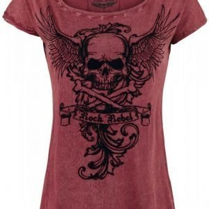 Rock Rebel By Emp Skull Wings Shirt Naisten T-paita