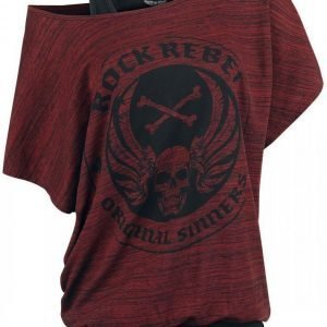 Rock Rebel By Emp Slubyarn Doublelayer Naisten T-paita