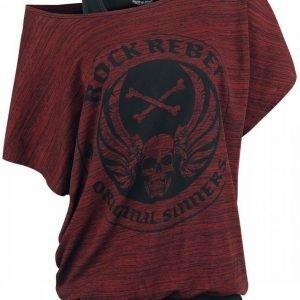 Rock Rebel By Emp Slubyarn Doublelayer Naisten T-paita