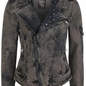 Rock Rebel By Emp Stone Washed Jeans Jacket Naisten Farkkutakki