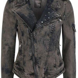 Rock Rebel By Emp Stone Washed Jeans Jacket Naisten Farkkutakki