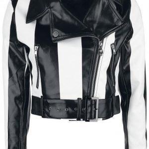 Rock Rebel By Emp Striped Jacket Naisten Keinonahkatakki