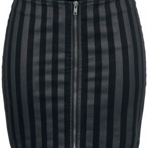 Rock Rebel By Emp Striped Zip Skirt Lyhyt Hame