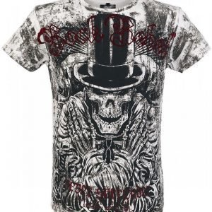 Rock Rebel By Emp Top Hat Skull Vintage T-paita