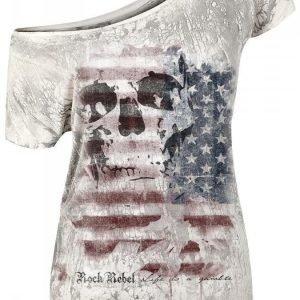 Rock Rebel By Emp Us Flag Naisten T-paita