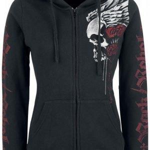 Rock Rebel By Emp Winged Skull Hoodie Jacket Naisten Huppari