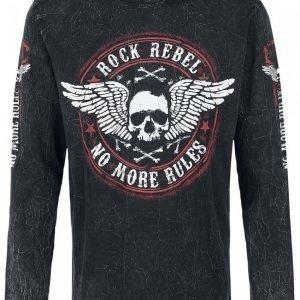 Rock Rebel By Emp Winged Skull Longsleeve Pitkähihainen Paita