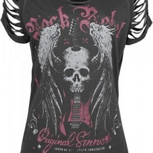 Rock Rebel By Emp Winged Skull Slash Shirt Naisten T-paita