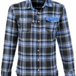 Rockupy Men Plaid Shirt Kauluspaita