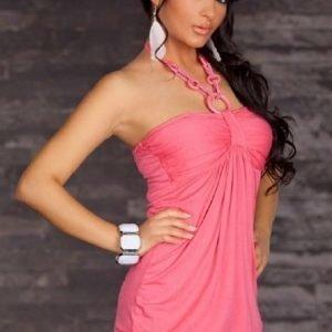 Rosalie vaaleanpunainen toppi (Plus Size)