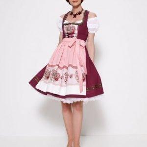 Rose Dirndl Dirdnl Mekko Viininpunaine / Roosa