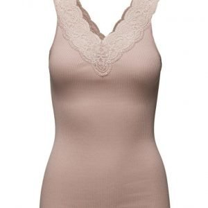 Rosemunde Silk Top Regular W/ Feminin Lace hihaton pusero