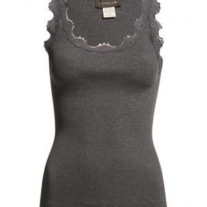 Rosemunde Silk Top Regular W/Vintage Lace
