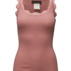 Rosemunde Silk Top Regular W/Vintage Lace