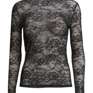 Rosemunde T-Shirt Regular Ls W/Lace pitkähihainen pusero