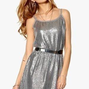 Rut & Circle Glam Deep Back Dress 355 Rock Grey